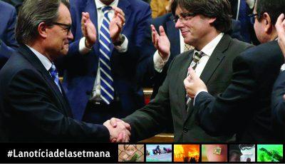 Carles Puigdemont, investit president de la Generalitat