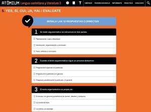 Quadern interactiu Atòmium Lengua castellana y literatura 3